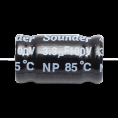 SOUNDER CAPACITOR BIPOLAR 4.7MFD/100V
